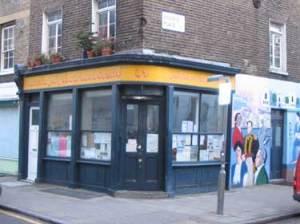 Corner building with shopfront.