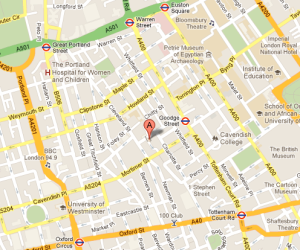Map of Fitzrovia