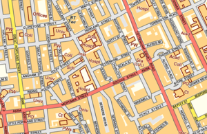 Map of part of Fitzrovia.