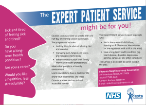 Advert with NHS logo.