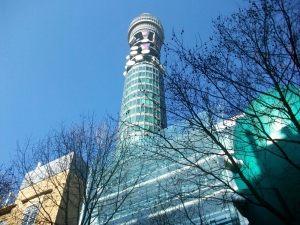 BT Tower as seen from Howland Street.