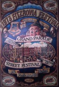 Original 1973 Fitzrovia Festival poster.