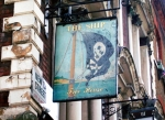 Pirate ship pub sign.