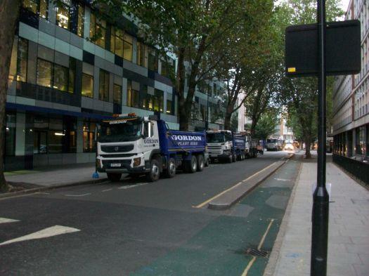 Lorries parked.