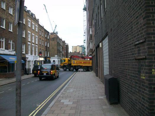 Lorry reverses.