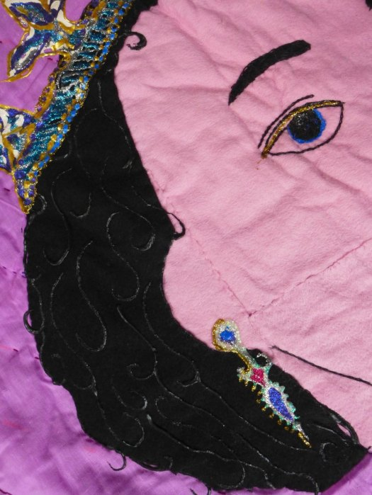 Detail of quilt.