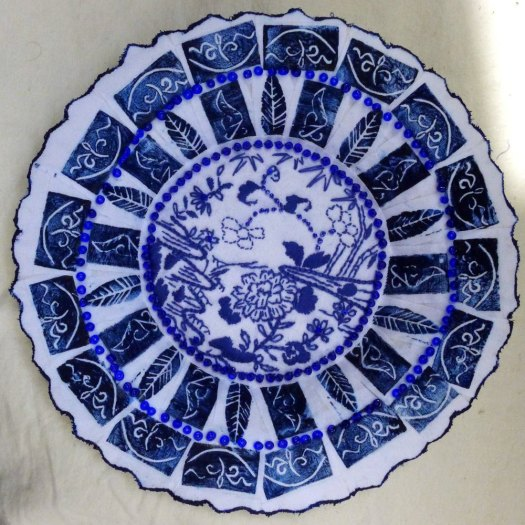 Ming Plate of mache.