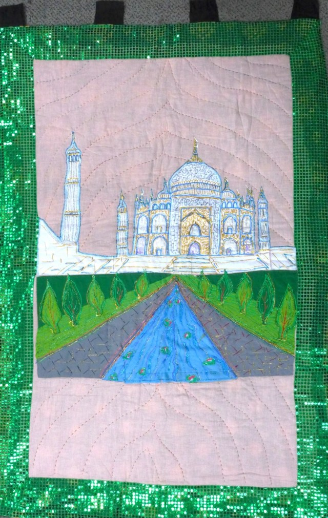 For Sale Handmade Quilted Wall Hanging Taj Mahal