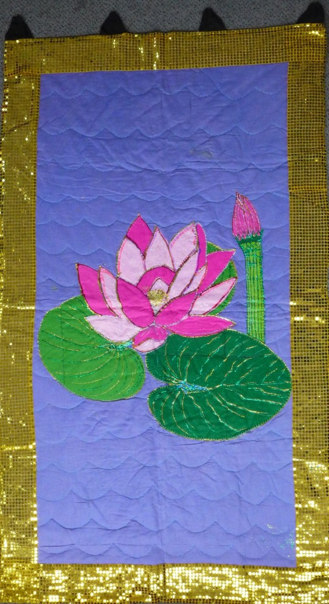 Waterlily embroidery.