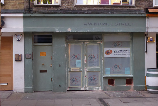 Shopfront at 4 Windmill Street.