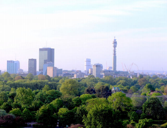 View of Fitzrovia from Primrose Hill.